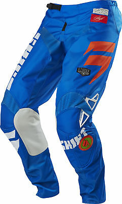 Shift MX 2016 Mens Strike Pant - Blue/Green Race Motocross Offroad Enduro Trail