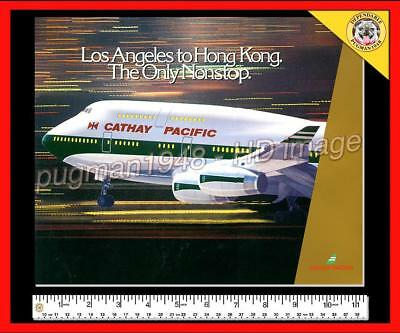 CATHAY PACIFIC AIRLINES c1980 AIRLINE BOOK...LAX. to Hong Kong Only Non-Stop