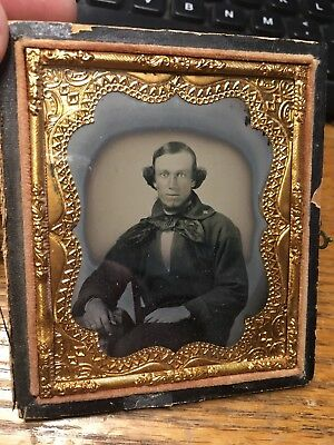 Gorgeous 1/6 plate Ambrotype of Civil War Confederate Navy Sailor with Star