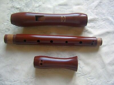 Beautiful Moeck Rondo 236B Alto / Treble Recorder, Curved Windway, Baroque, Pear