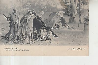 Australia Western Australia Aboriginal Mia Mia Camp Post Card