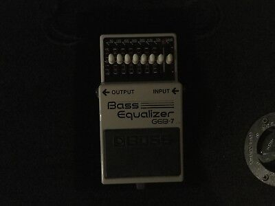 Boss GEB-7 Bass Equalizer Pedal - Seven-band EQ with master level control