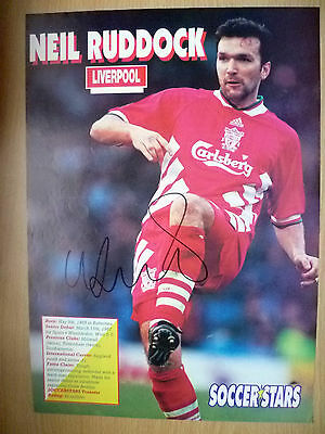 Original Hand Signed Press Cutting- NEIL RUDDOCK, Liverpool FC (apx. A4.).