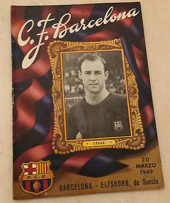 1949 Friendly BARCELONA v ELFSBORG