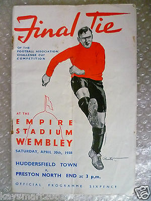1938 FA Cup Final HUDDERSFIELD TOWN v PRESTON NORTH END, played on 30 April (ORG