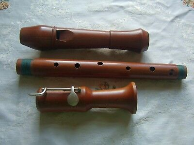 Superb Heinrich  Royal Tenor Recorder, Baroque, with Key
