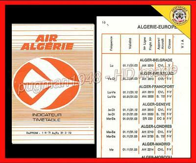AIR ALGERIE AIRLINES 1971 AIRLINE TIMETABLE SCHEDULE...Sahara and more
