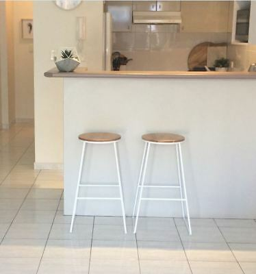 2 x Bar Kitchen Stools I 70 x 42 x 42 cms I As New Condition
