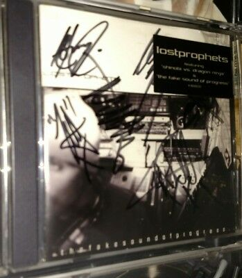 Lost Prophets Signed Autographed Full Band CD Cover