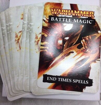 Warhammer Fantasy Battle Magic End Times Spell cards OOP