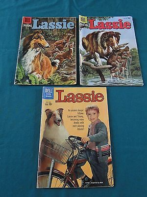 Dell Comics M-G-M's Lassie #31,36 And 51 - 1956 To 1960 Nice Copies!!
