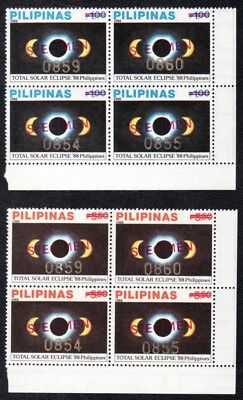 Philippines Specimens – 1988 Total Solar Eclipse, Complete Set, B/4, MNH OG