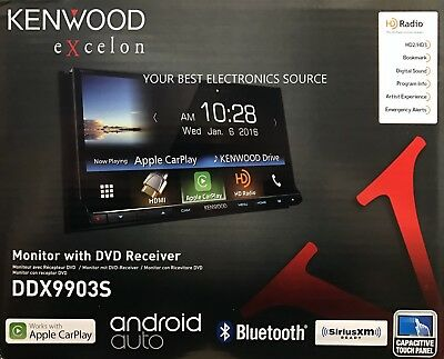 """NEW KENWOOD DDX9903S Car Stereo, 6.95"""" Touch Screen, Android Auto/Apple Car Play"""