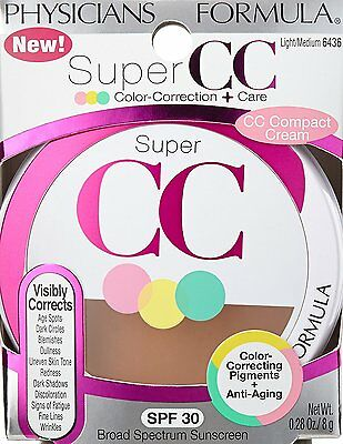 Physicians Formula Super CC Color-Correction + Care Compact Cream Lt/Med #6436