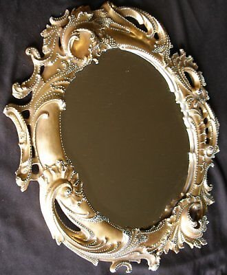 Rs Pruissa Extremely Rare Bevelled Gold Torquise Stippling Mirror 1886 Mint.