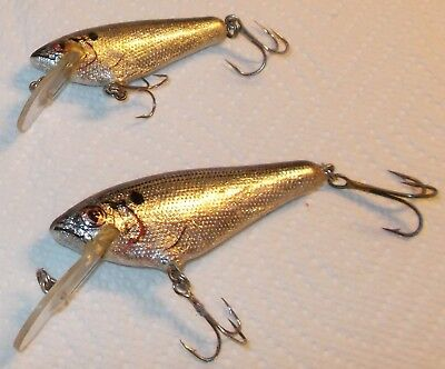 Rare Old Vintage Bagley Small Fry Shad-Lot Of 2-Nice Condition