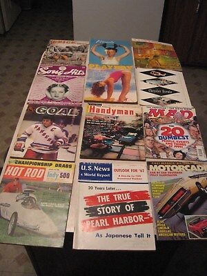 Lot Of 12 Different Vintage Magazines-Good Mix