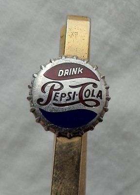 Vintage PEPSI Bottle Cap Advertising Metal Mechanical Lead Pencil Gold-tone