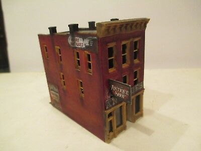 Detailed & Weathered Old Town Antiques Shop, 3 Story Downtown N Scale  Building