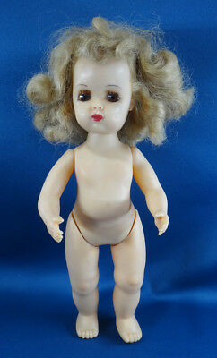 "vintage TINY TERRI LEE hard plastic DOLL 11"" no clothes WALKER"