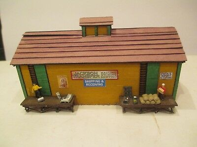 """Nicely Detailed Wood Construction N Scale """"jackson Transfer"""" Warehouse Building"""
