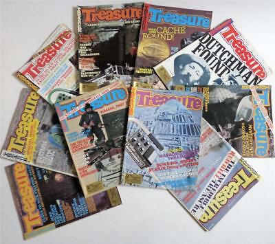 10 Lot TREASURE Magazine 1980 Coinshooting Gold Silver Prospecting Loot Hoards
