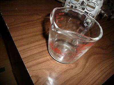 Vintage Hocking Anchor Fire King Glass 2C Measuring Cup Closed D Handle