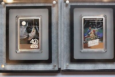 Star Wars 40th Anniversary Poster coin and Empire Strikes Back Poster coin.999