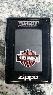 "New Zippo lighter ""Harley Davidson"" Motorcycles black matte  Finish Lighter"