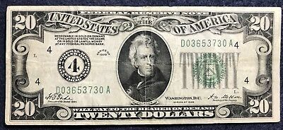 1928 $20 Federal Reserve Note Cleveland