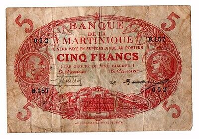 LOT OF 3 FRENCH COLONIAL NOTES  Martinique & New Caledonia
