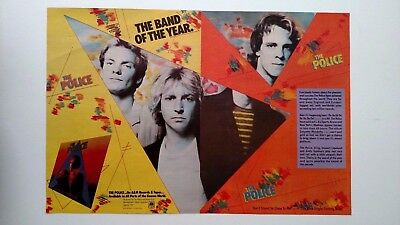 The Police The Band Of The Year (1981)  Rare Original Print Promo Poster Ad