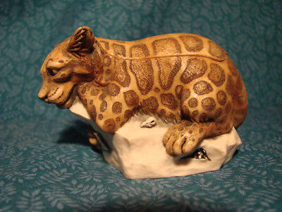 Harmony Kingdom -Sweet Spot Leopard Box- Made in England