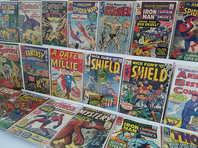 Marvel Silver age Key Wall book COMIC Lot of 20 ASM 17 Sub-mariner 1 Millie 1