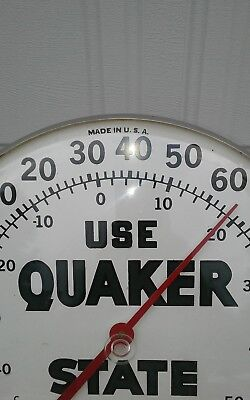 Vintage Quaker State thermometer 1960s NICE.
