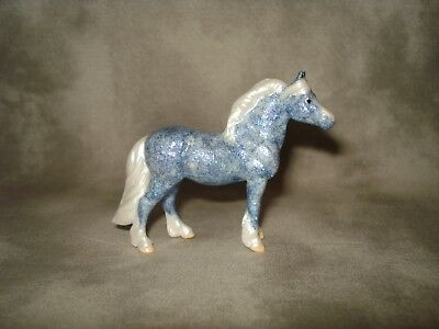 Breyer CM Glossy Decorator Blue/Purple Glitter Highland Pony Stablemate