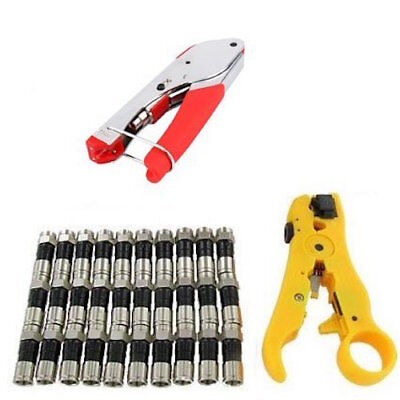 Create a Coaxial Cable Compression Tool Kit RG6 - Tool Cable Stripper Connectors