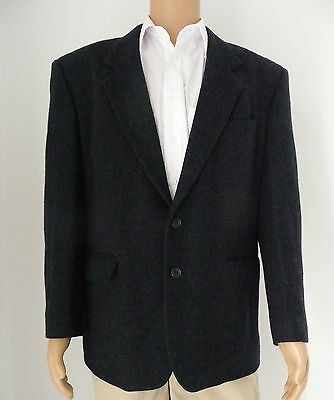 Roger David Men's Wool Blend Dark Navy Blazer Size 107R