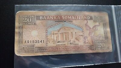 somaliland currency 20 shillings m917