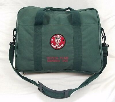 Phillips 66 Oil Company 1995 Safety Review Team Army Green Messenger Laptop Bag