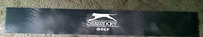 Man cave sign; Slazenger golf; two sided; 6 by 45 inches; used.