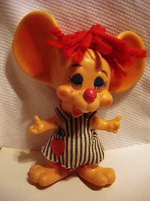 Vintage 1970 Roy Des of Fla Topo Gigio Hillbilly Country Girl Mouse Bank