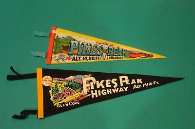 Vintage Felt Pennants Lot Pikes Peak Colorado