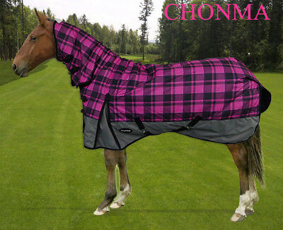 CHONMA  6'9'' 600D 250G Winter Waterproof BreathableTurnout Horse Rug Combo--A29