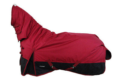 CHONMA 6'0'' 1680D 250G Winter Waterproof BreathableTurnout Horse Rug Combo-A37
