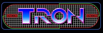 Tron Arcade Marquee Encom For Reproduction Header/Backlit Sign