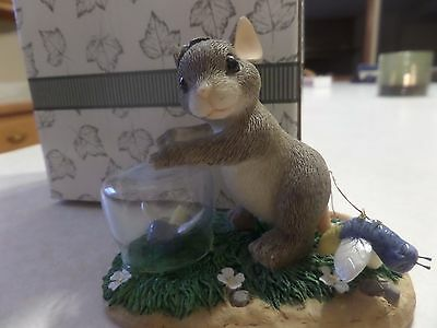 Fitz & Floyd Charming Tails Mice In Box Catching Fireflies 83/02