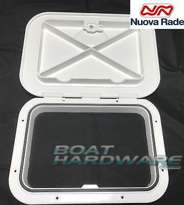 Deluxe Hinged Access Hatch 375x275mm Boat Deck Storage Non Skid Floor Mountable