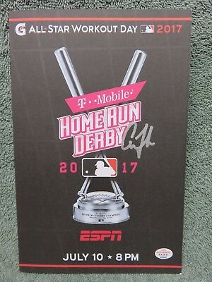 Aaron Judge 2017 All star Home Run Derby Program Signed Autographed COA Yankees
