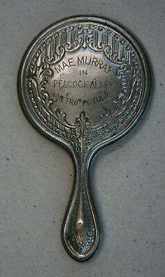Mae Murray PEACOCK ALLEY 1922 RARE Metro Pictures Silent Film Pocket Mirror